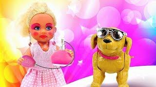 Штеффи одна дома - Накрасилась и нарядилась в платье Барби - Игры в куклы