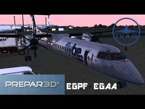 [Prepar3D v3] Glasgow ✈ Belfast | BEE9DN | Majestic Dash8 Q400 PRO | IVAO