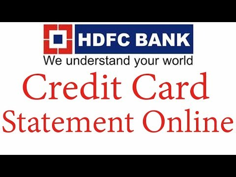 Download HDFC Credit Card Statement Online