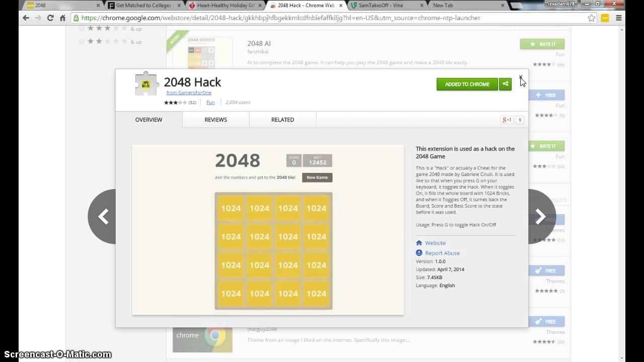 2048 bitcoin bot)