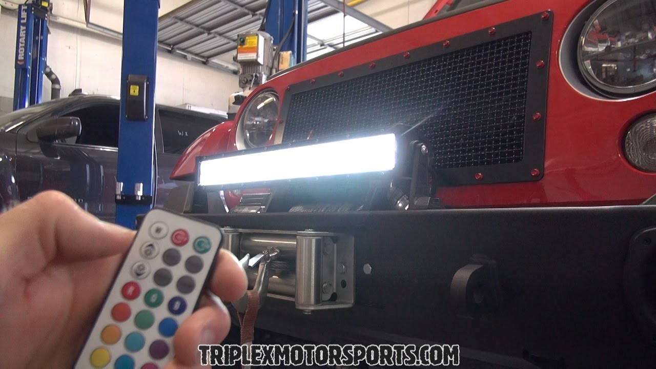 Remote Control Auxbeam Led Light Bar Install Review And