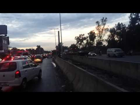 Gujranwal fly over - Aziz chowk - around the sky after the rain ( Gujranwala fly over completed )