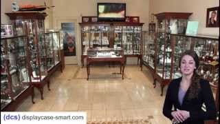 Cherry Queen Anne Jewelry Display Cases