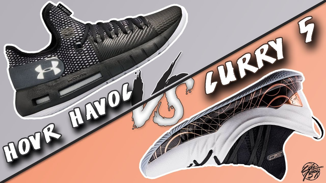 big sale 4b0df 945b7 Under Armour Hovr Havoc Low vs Curry 5!