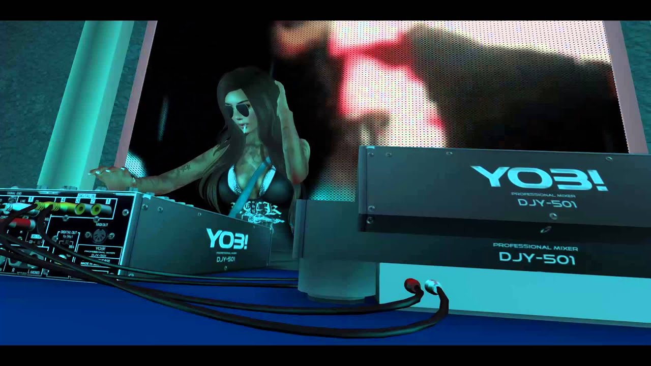 Lets See Second Life 1 Coole Dj Animation Am Mischpult