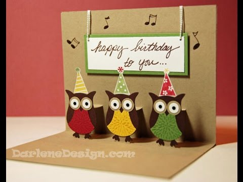 Simple Two Step Owl Punch Pop Up Card YouTube