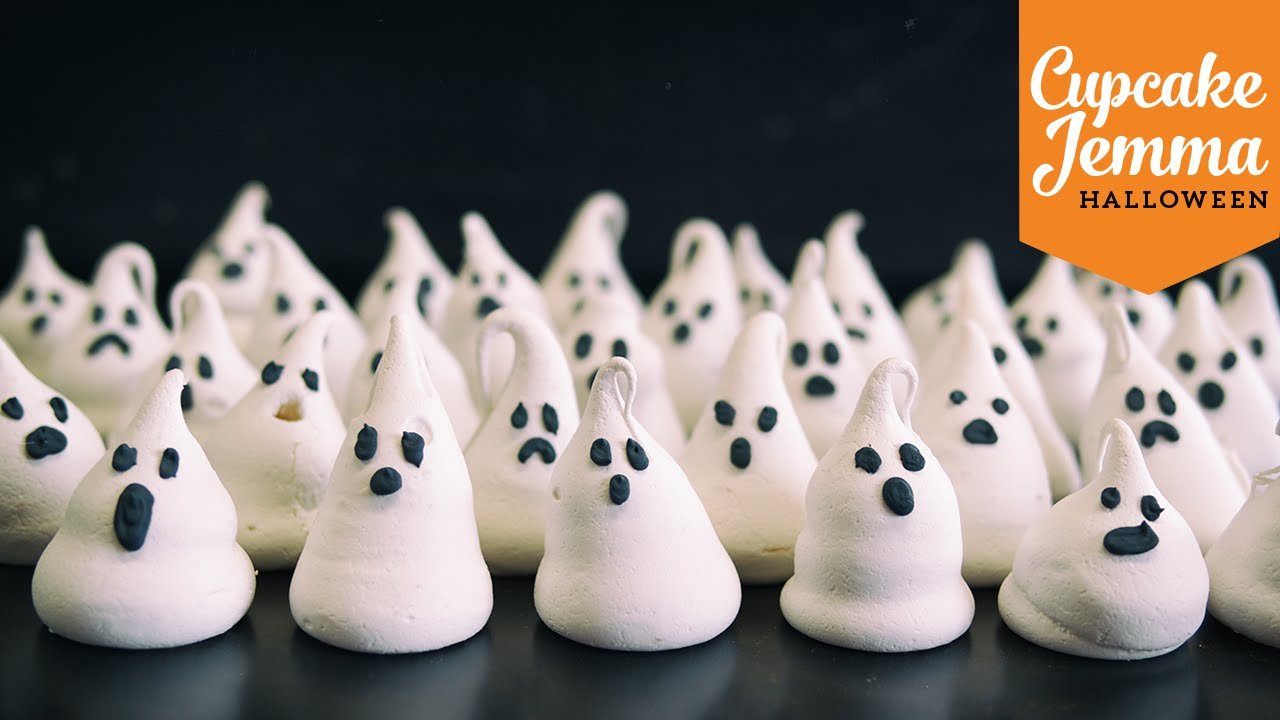 Halloween Special Pt.3 | Meringue Ghosts Recipe | Cupcake ...