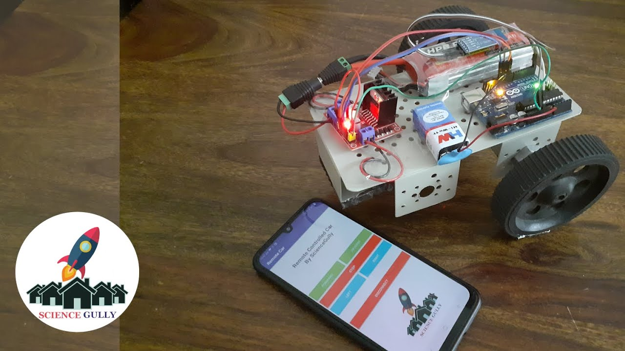 Bluetooth controlled robotic car using smartphone
