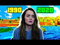 Reacting to the Evolution of Minecraft | 1990 to 2020??