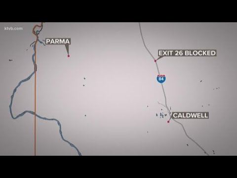 Nampa man dies after crashing into a semi-truck on the I-84 near the Parma  exit