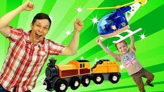 Остров поездов - Мультик про паровозики - Игры для детей с Фёдором!