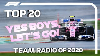 Top 20 F1 Team Radio Moments of 2020!