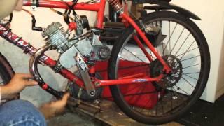 80cc Motorized Bicycle Muffler Mod Fix Exhaust Repair