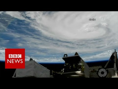 Hurricane Harvey Viewed From Space By Nasa Bbc News Youtube