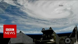 Hurricane Harvey Viewed From Space By Nasa  Bbc News