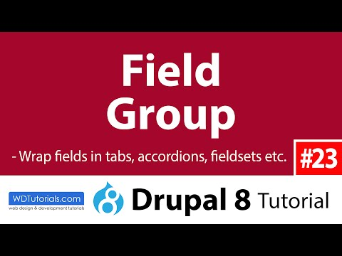 Drupal 8 - How To Group Fields Together With Field Group Module