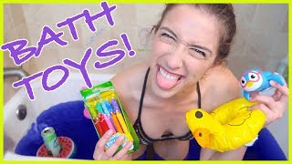 Trying Kids' Bathtub Toys!!!