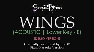 Wings (Lower Key - Piano karaoke demo) Birdy
