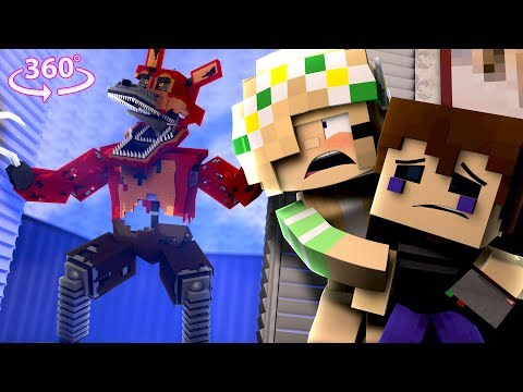 360° Five Nights At Freddy's - NIGHTMARE FOXY VISION - Minecraft 360° VR Video