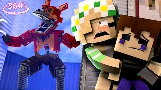 360° Five Nights At Freddyand39s - Nightmare Foxy Vision - Minecraft 360° Vr Video
