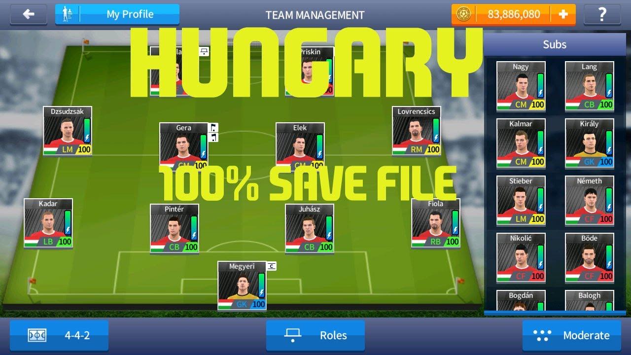 688812b86 Dream League Soccer 2017 - HUNGARY 100 Power Save File - YouTube