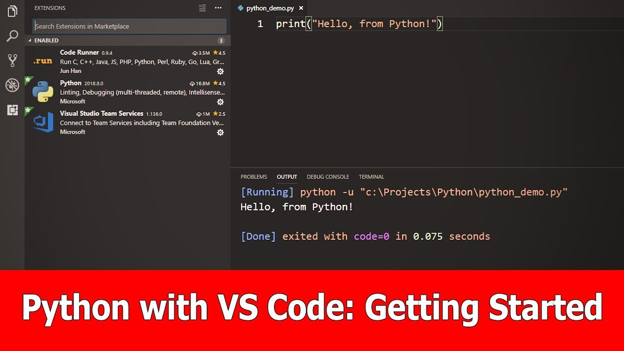 Python with VSCode Tutorial : Getting Started