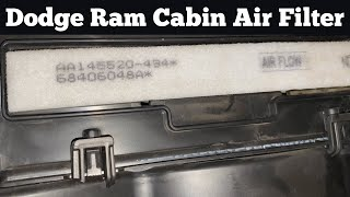 How To Change A 2017 2021 Dodge Ram Cabin Air Filter Replace Remove Replacement A C Location Youtube