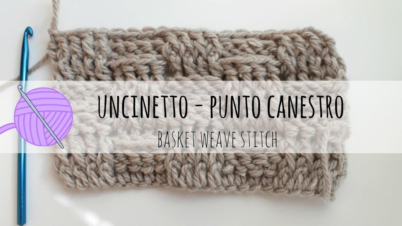Punto Crochet All Uncinetto.Punto Canestro Schema E Tutorial Per Un Cappello Fabcroc