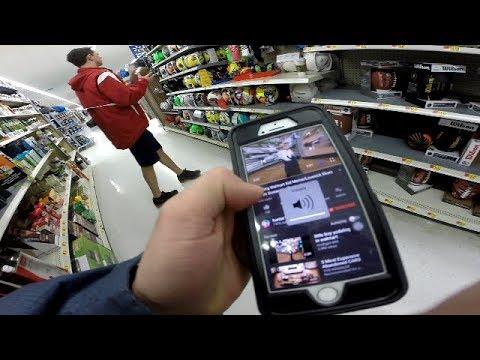 BLASTING YODELING KID IN WALMART PRANK (Walmart Speaker Prank)(Walmart Yodeling Kid)