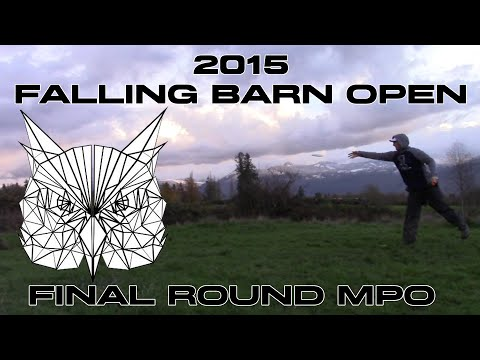 2015 Falling Barn Open Final Round MPO (Knowles, Shuler, Carr, Diakow) Disc Golf