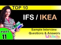 ifs ikea top most interview questions and answers for freshers experienced tips online videos