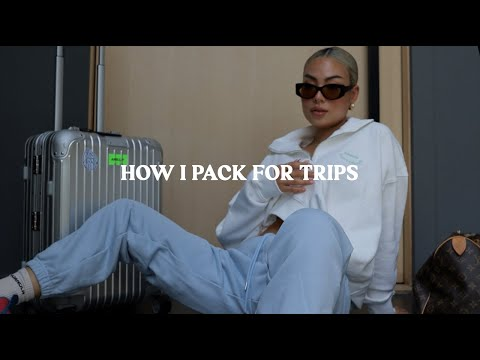 Pack With Me | grwm to travel, travel essentials, how to pack, carry on essentials, packing tips