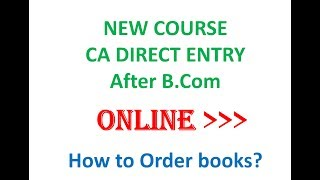 CA Direct Entry Books Order INTER  - online from icai portal