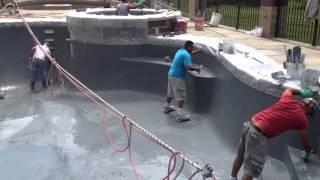 Washington Township Michigan Gunite Pool Pebble Sheen Coating Installation