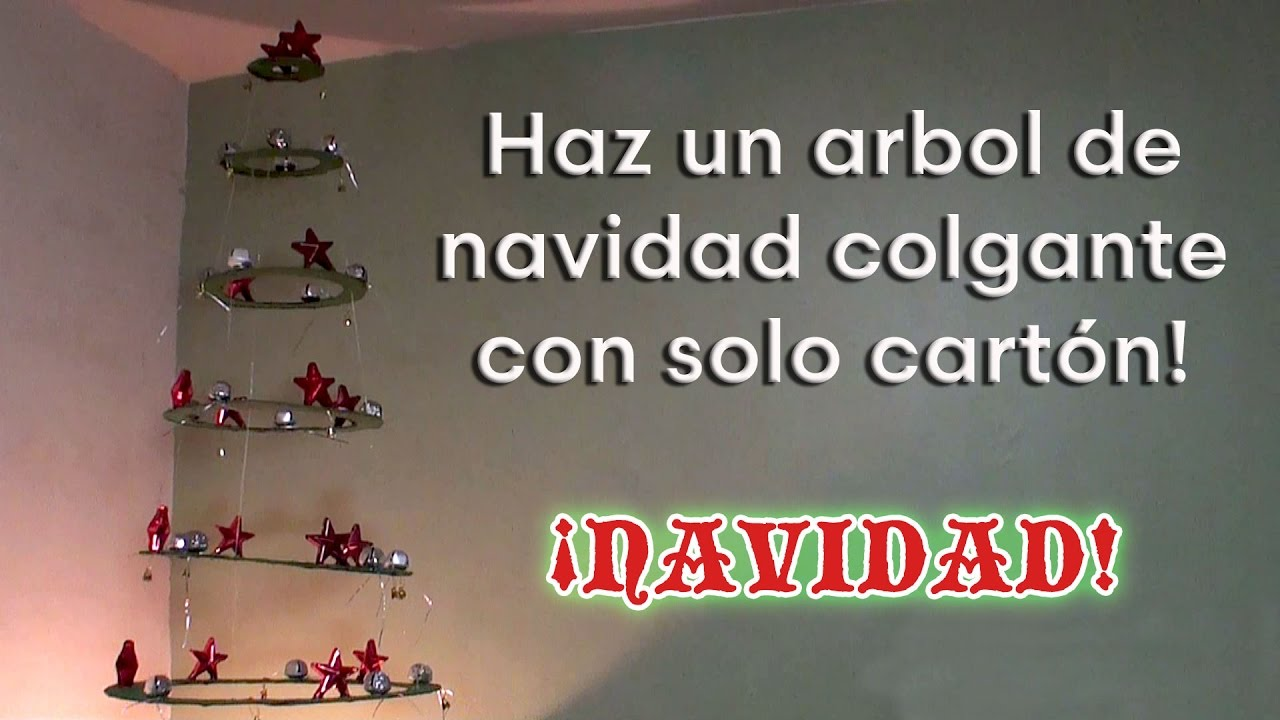 Como hacer un rbol de navidad colgante con cart n youtube - Como hacer un arbol de navidad de carton ...