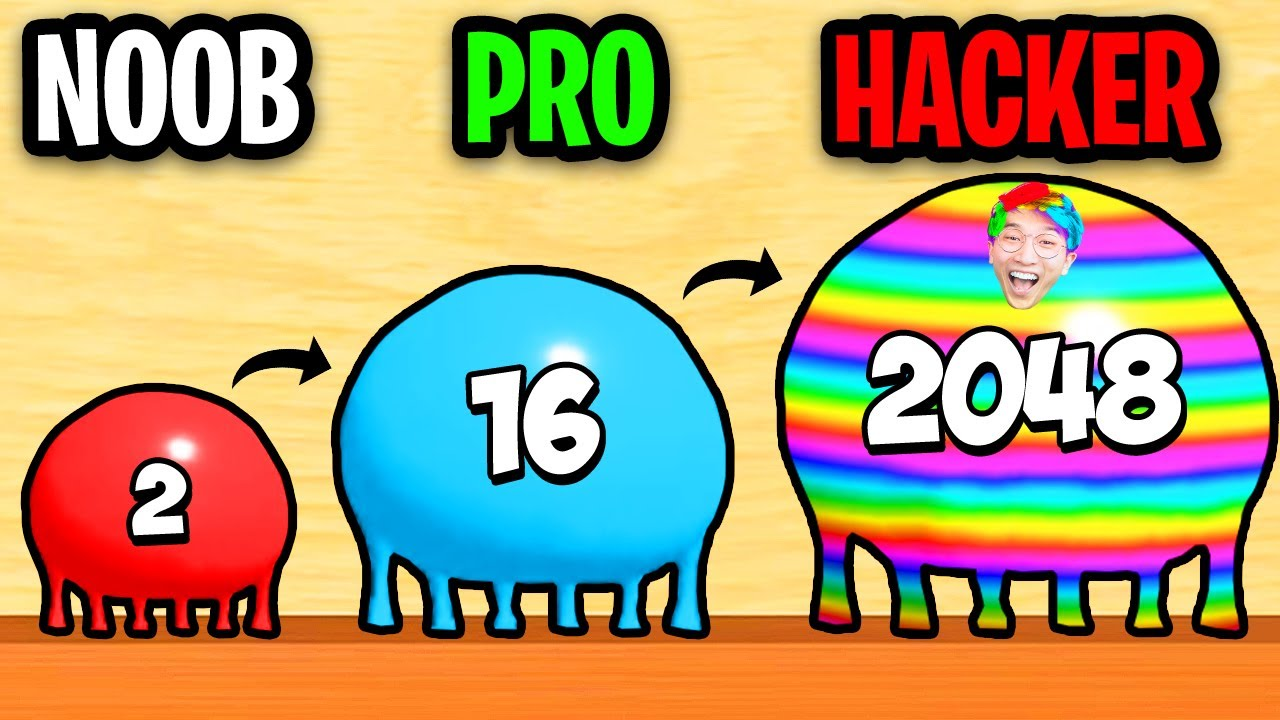 Download NOOB vs PRO vs HACKER In BLOB MERGE 3D! (MAX LEVEL 2048!)