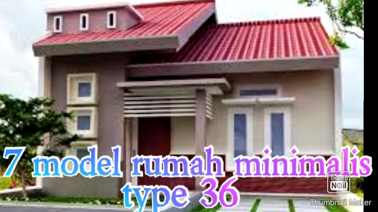 Model rumah minimalis type 36 - YouTube