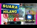 Cara Mengatasi SUARA Mobile Legend yang HILANG 🔴