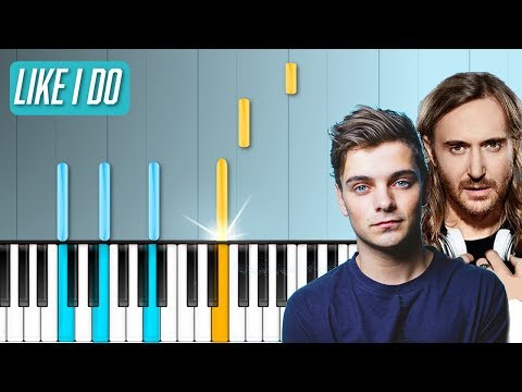 David Guetta, Martin Garrix  Brooks  Like I Do Piano Tutorial  Chords  How To Play