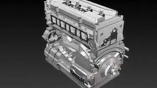 3D comment un moteur de voiture fonctionne