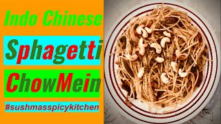 Veg Sphagetti Recipe | Hakka Noodles Recipe | Desi Chinese recipe | how to make Veg Chow mein