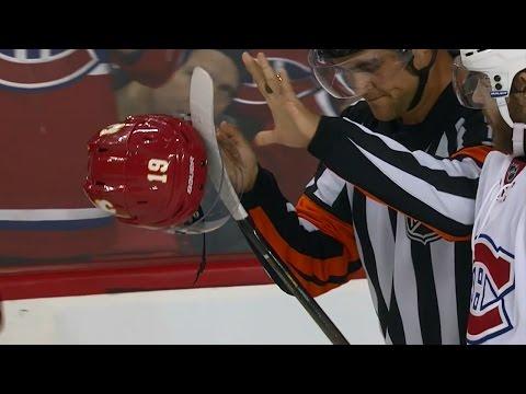 Gotta See It: Galchenyuk gets stick caught in Tkachuk's visor