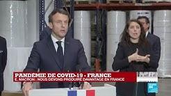 """Coronavirus - Macron à Kolmi-Hopen : """"Il faut produire davantage de masques en France"""""""