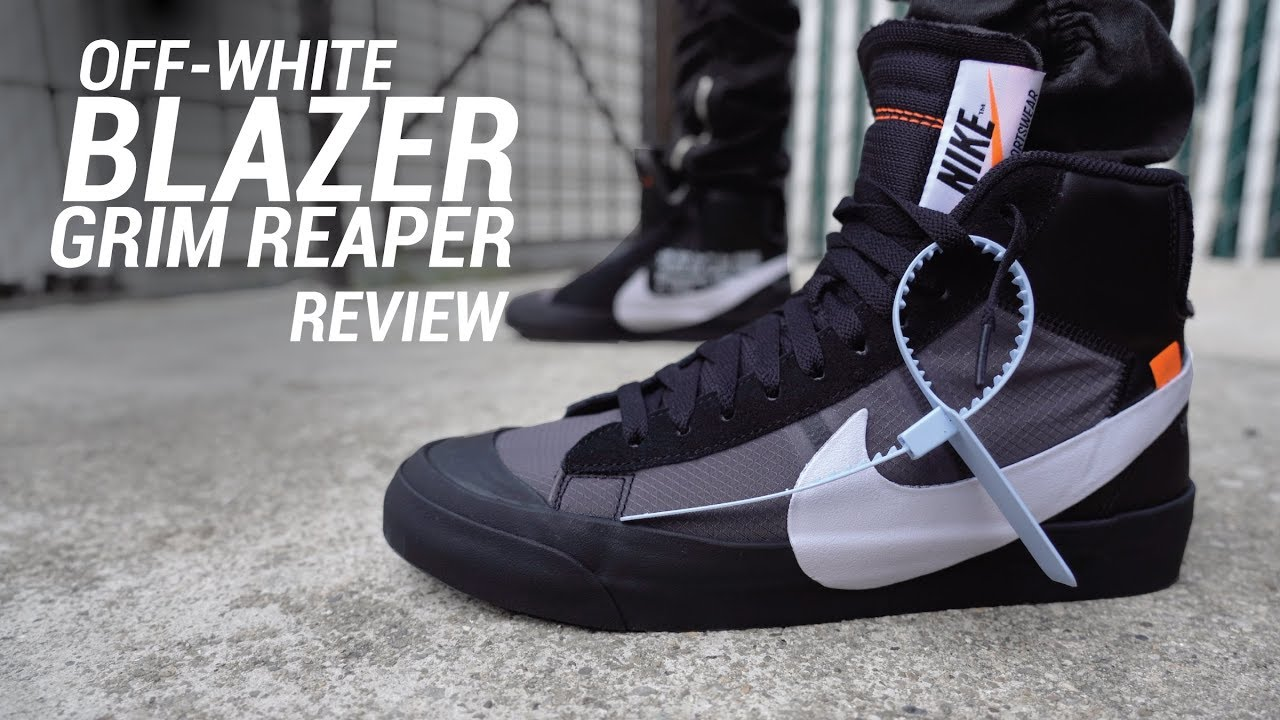 1ba37ef85891d Off White Nike Blazer Mid Grim Reaper Review & On Feet - YouTube