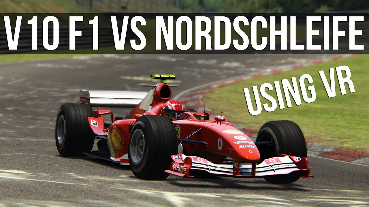 Assetto Corsa - How Fast Is A V10 Formula 1 Car At The Nordschleife?