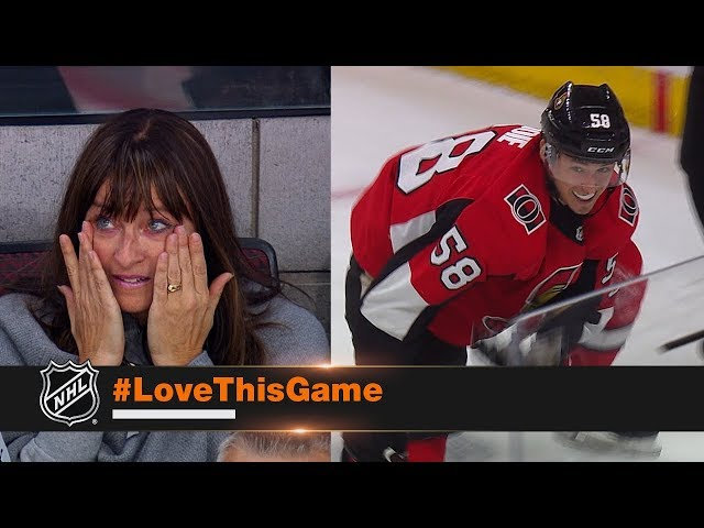 Maxime Lajoie brings family to tears with first NHL goal