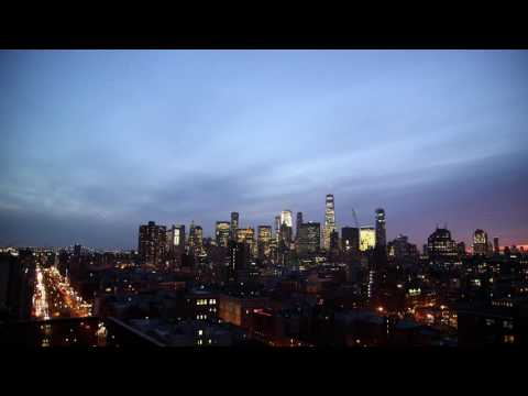 Manhattan Cityscape at Night | HD Relaxing Screensaver