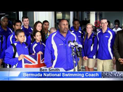 Minister Wayne Scott And National Swim Coach Ben Smith, Apr 2 2013
