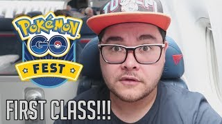 I TRAVELED FOR 65+ HOURS TO POKEMON GO FEST & FIRST CLASS FLIGHT!