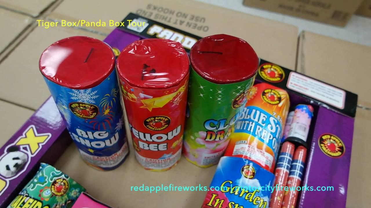 Fireworks Sampler: Tiger Box/Panda Box Unboxing & Tour w/ Doug from Red  Apple/Motor City Fireworks